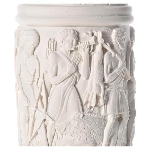 Colonna per statue 80 cm marmo sintetico 5