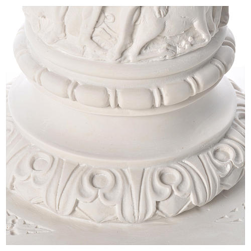 Colonna per statue 80 cm marmo sintetico 7