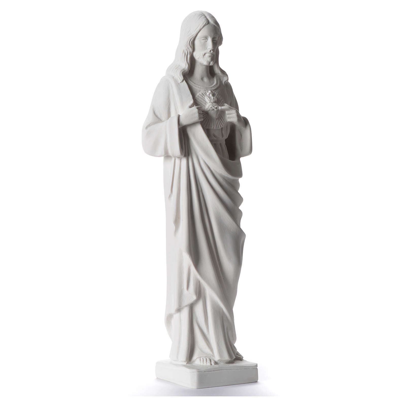Sacred Heart of Jesus statue, 38-53 cm in white marble dust 38 cm 4