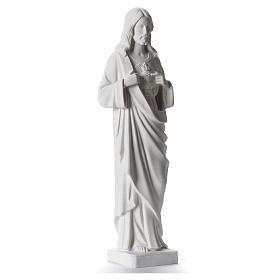 Sacro Cuore di Gesù 38-53 cm polvere di marmo bianco 38 cm s2