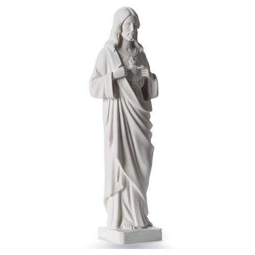 Sacro Cuore di Gesù 38-53 cm polvere di marmo bianco 38 cm 2