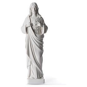 Sagrado Coração Jesus 38-53 cm pó de mármore branco 38 cm s1
