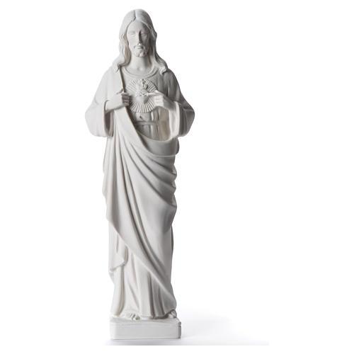 Sacred Heart of Jesus statue, 38-53 cm in white marble dust 38 cm 1