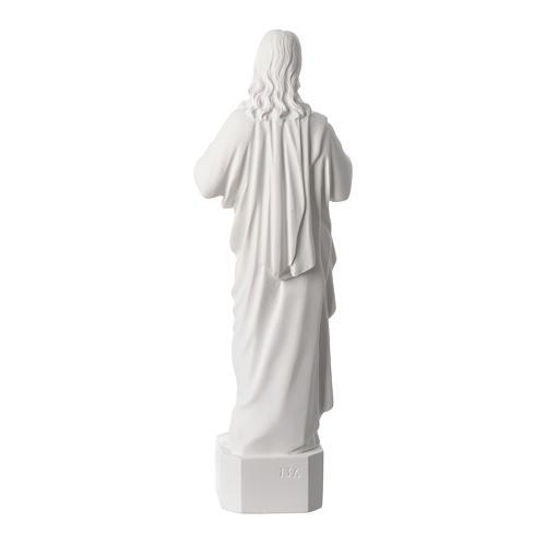 Sacro Cuore di Gesù polvere di marmo bianco 42 cm 4