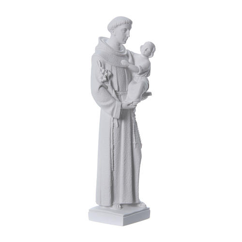 Saint Anthony of Padua statue, 40 cm in white marble dust 3
