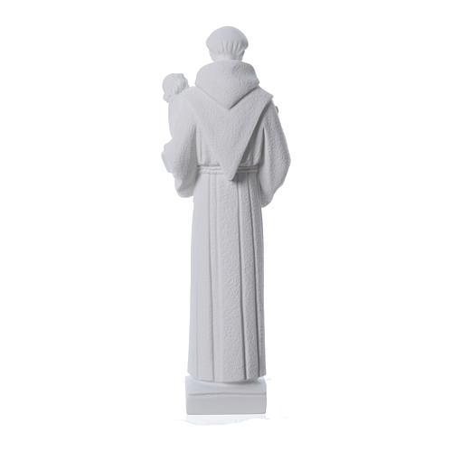 Saint Anthony of Padua statue, 40 cm in white marble dust 4