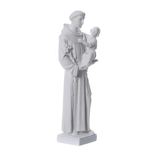 San Antonio de Padua 40 cm polvo de mármol blanco 3