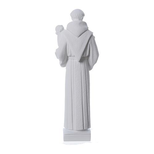 St Antoine de Padoue marbre blanc 40cm 4