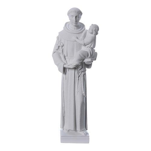 Sant'Antonio da Padova 40 cm polvere di marmo bianco 1