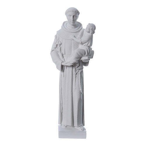 Saint Anthony of Padua statue, 40 cm in white marble dust 1