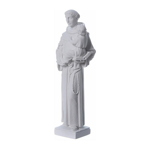 Saint Anthony of Padua statue, 40 cm in white marble dust 2