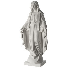 63 cmOur Lady of Grace white marble composite statue s3