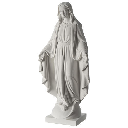 63 cmOur Lady of Grace white marble composite statue 3