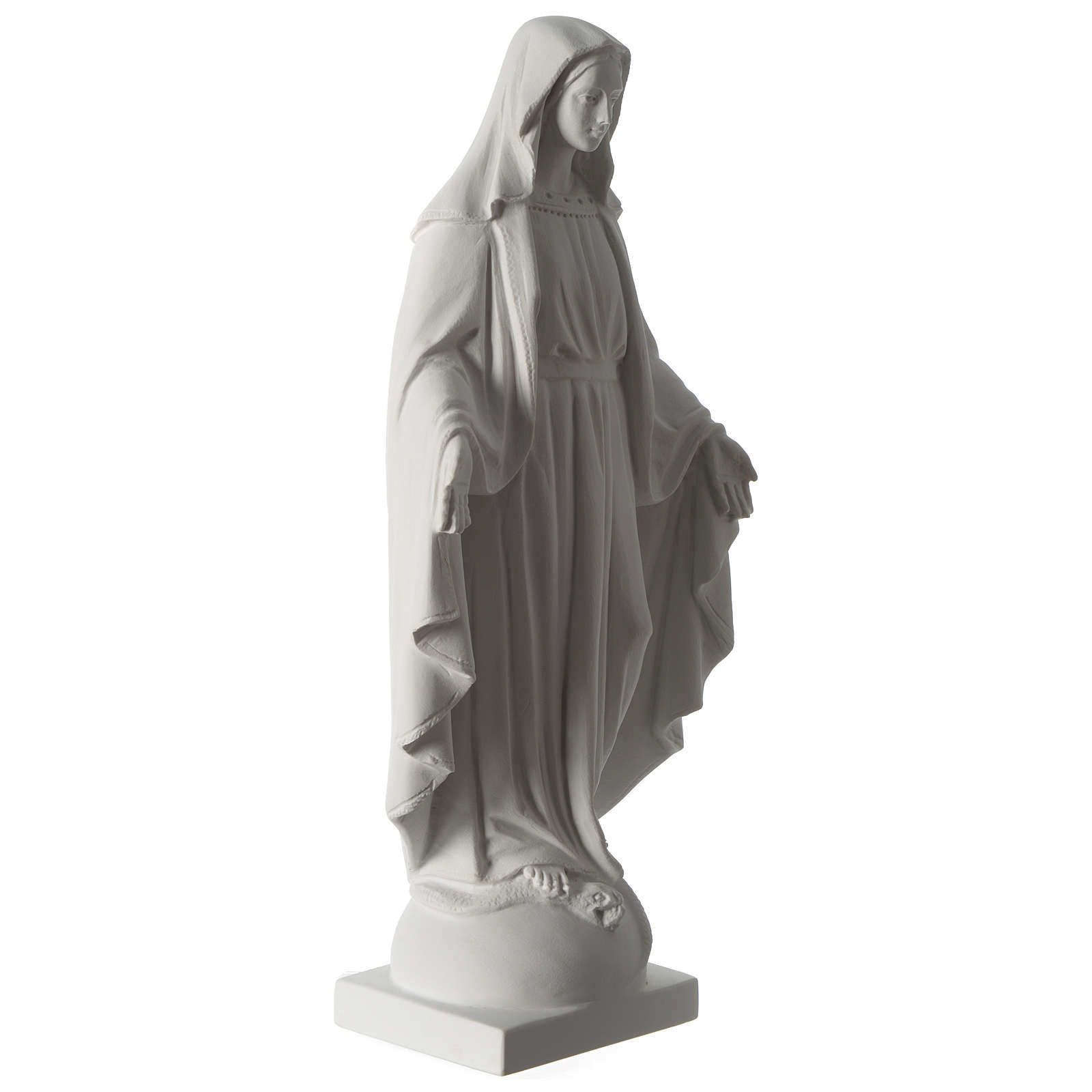 Madonna Immacolata 63 cm polvere di marmo bianco 4