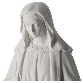 Madonna Immacolata 63 cm polvere di marmo bianco s2