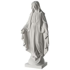 Madonna Immacolata 63 cm polvere di marmo bianco s3