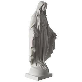 Madonna Immacolata 63 cm polvere di marmo bianco s4