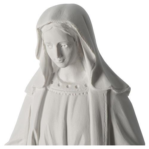 Madonna Immacolata 63 cm polvere di marmo bianco 2