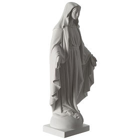 Our Lady of Grace composite marble statue 63 cm s4