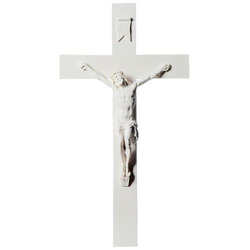 Crucifix marbre blanc reconstitué 43 cm 1