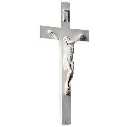 Krucyfiks 50 cm marmur syntetyczny biały 3