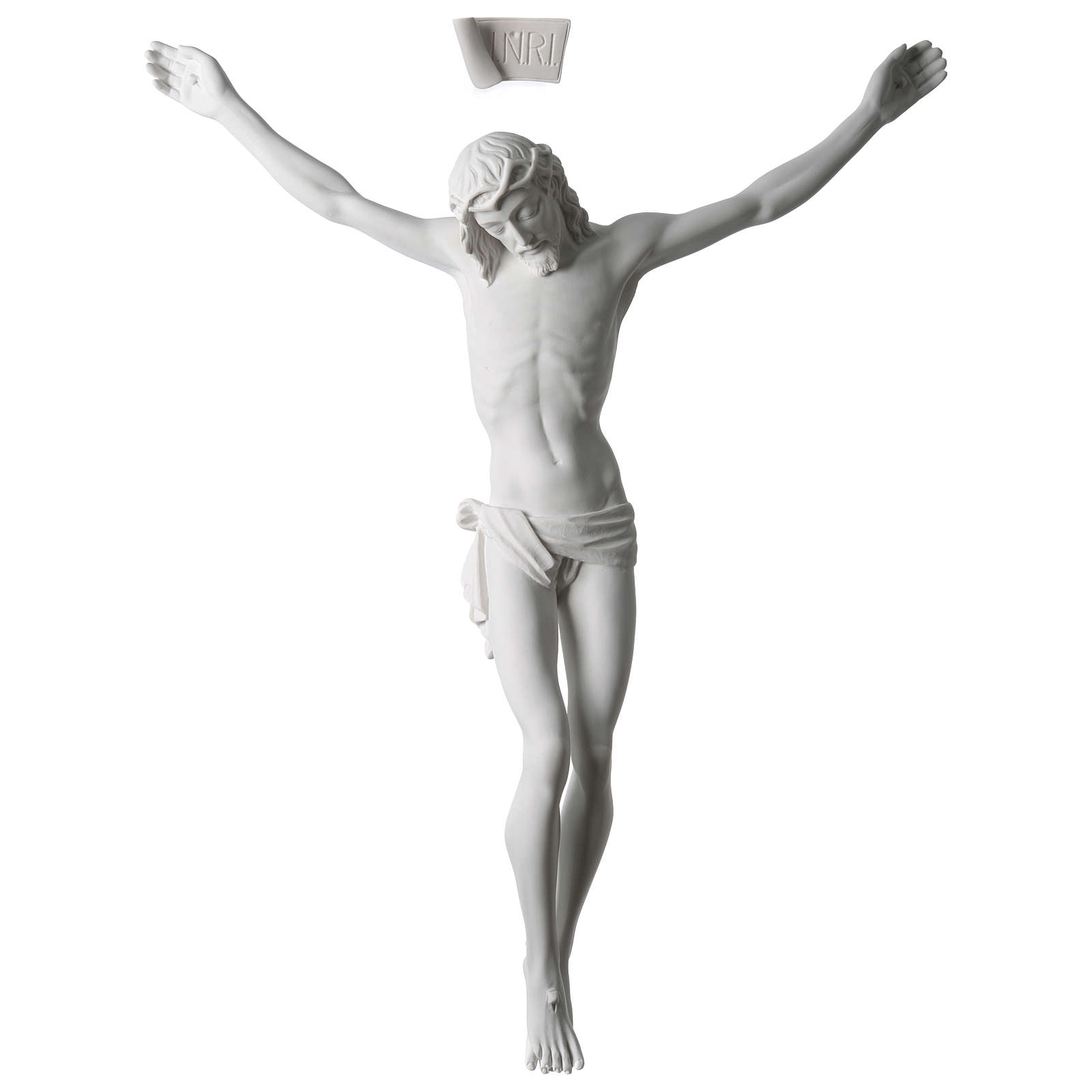 Body of Christ statue 60 cm in white marble dust 4