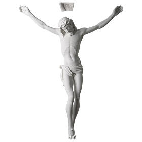 Body of Christ statue 60 cm in white marble dust s1