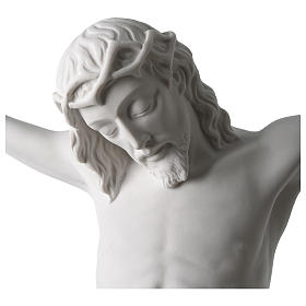 Body of Christ statue 60 cm in white marble dust s2