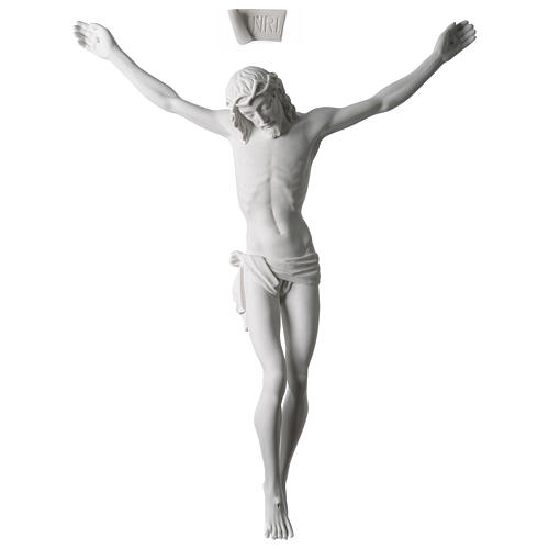 Body of Christ statue 60 cm in white marble dust 1