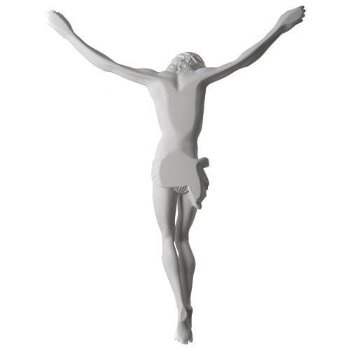 Body of Christ statue 60 cm in white marble dust 3