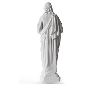 Sacred Heart of Jesus statue, 40 cm in white marble dust s3