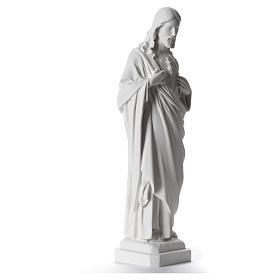Sagrado Coração de Jesus 40 cm mármore sintético branco