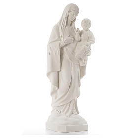 Virgin of the consolation statue, 80 cm in marble dust s4
