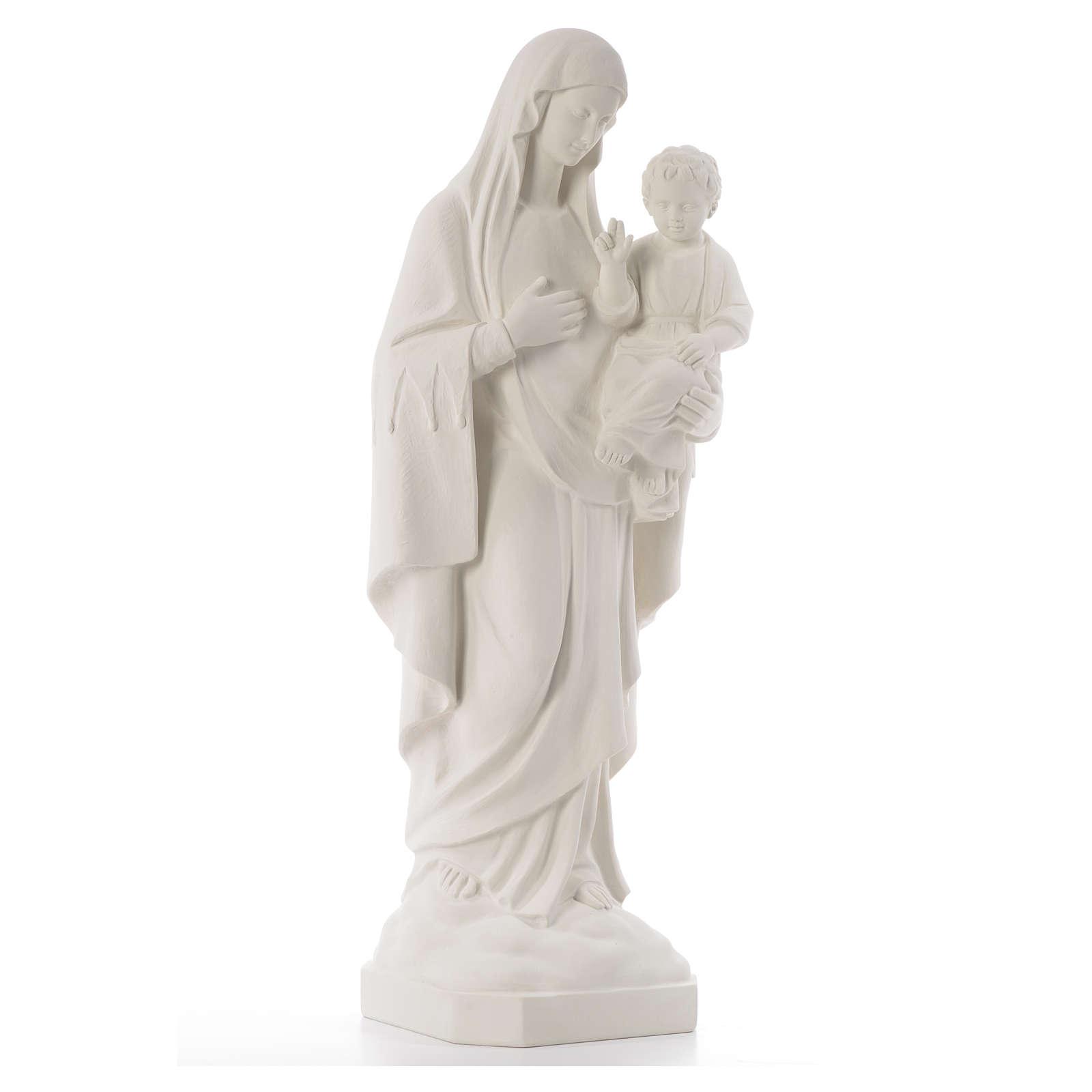 Madonna della Consolata 80 cm marmo sintetico 4