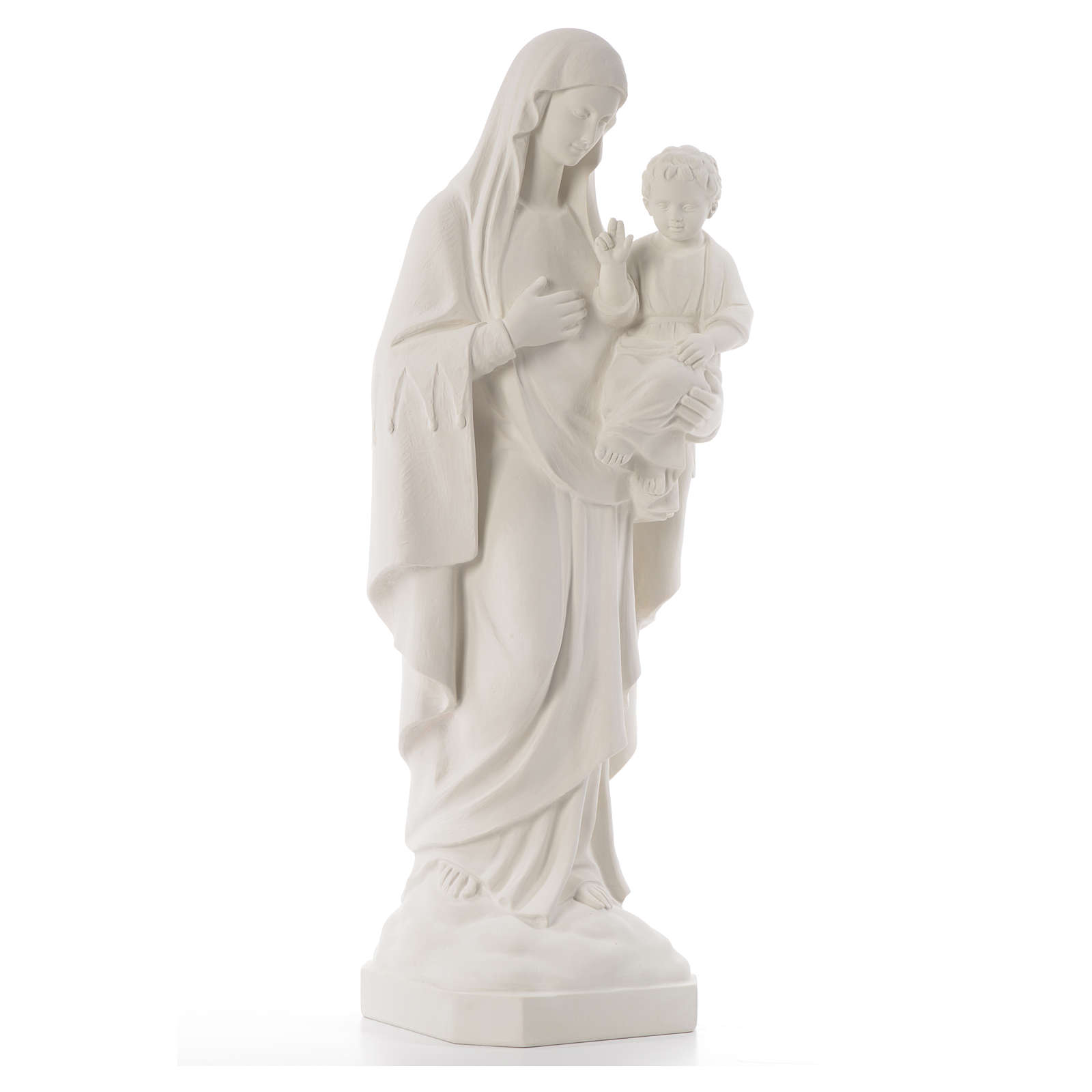Virgin of the consolation statue, 80 cm in marble dust 4