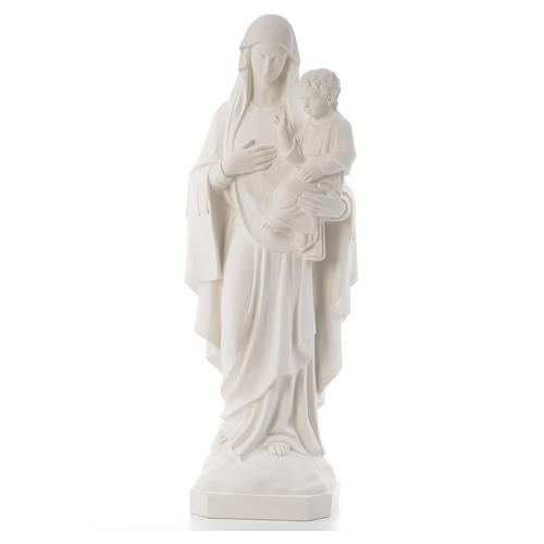 Virgin of the consolation statue, 80 cm in marble dust 1