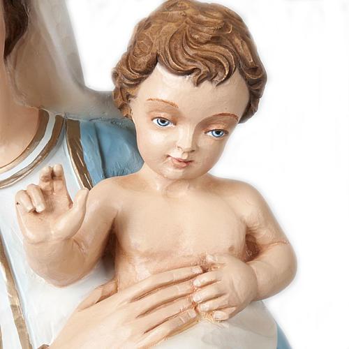 Virgen y Niño bendiciente 85 cm mármol sintético pintado 3