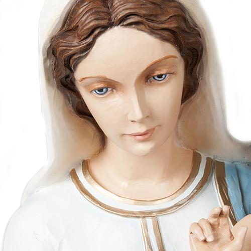 Virgen y Niño bendiciente 85 cm mármol sintético pintado 5