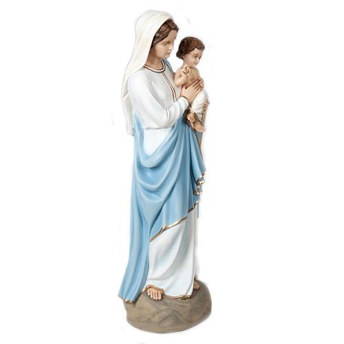 Madonna e Bambino benedicente 85 cm marmo sintetico colorato 6