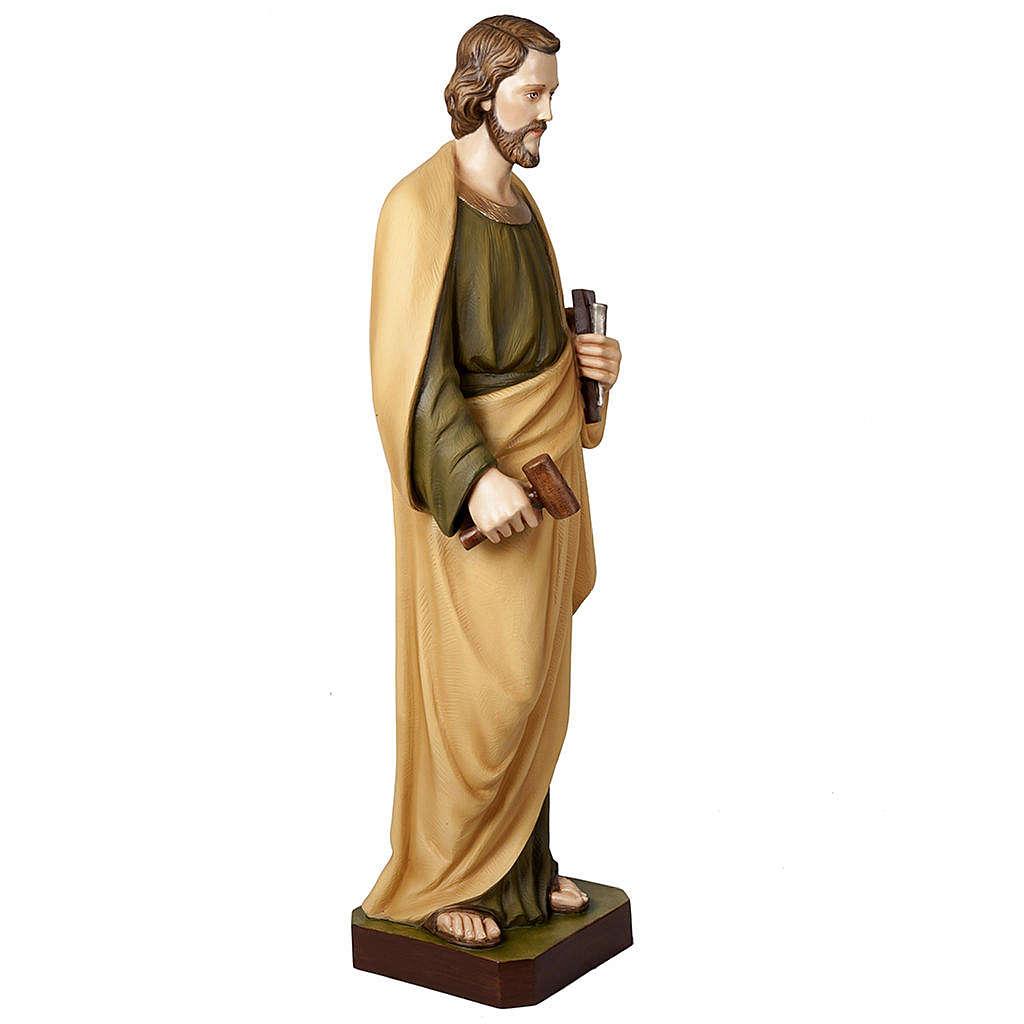 San Giuseppe lavoratore 100 cm marmo sintetico colorato 4
