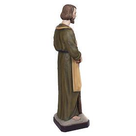 Saint Joseph the Carpenter statue, 80 cm in painted marble dust s6
