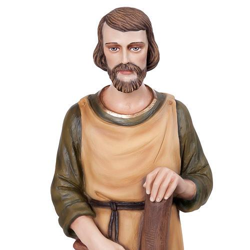 Saint Joseph the Carpenter statue, 80 cm in painted marble dust 2