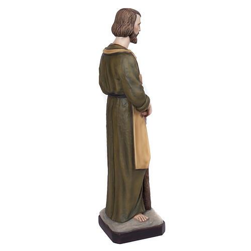 Saint Joseph the Carpenter statue, 80 cm in painted marble dust 6