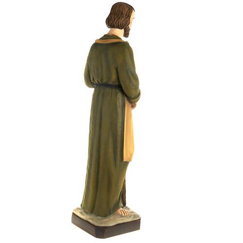 Saint Joseph the Carpenter statue, 80 cm in painted marble dust 7