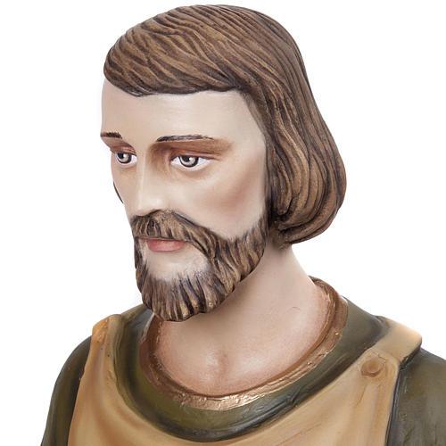 Saint Joseph the Carpenter statue, 80 cm in painted marble dust 4