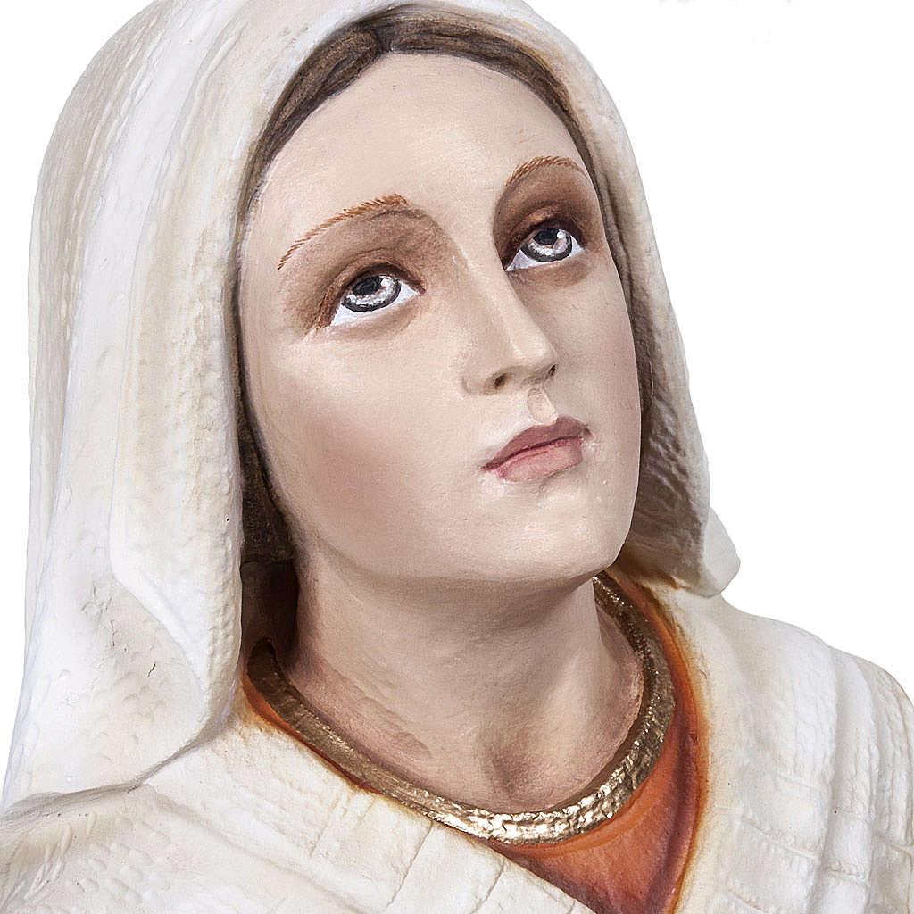 Saint Bernadette statue, 50 cm in painted marble dust 4