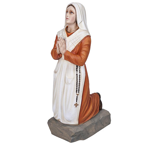 Saint Bernadette statue, 50 cm in painted marble dust 1
