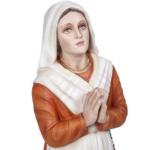 Saint Bernadette statue, 50 cm in painted marble dust 2