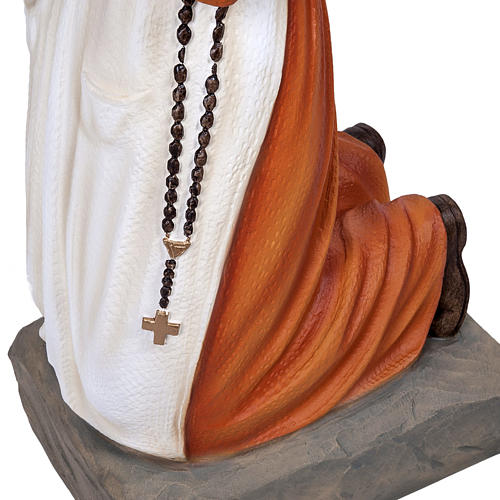 Saint Bernadette statue, 50 cm in painted marble dust 3