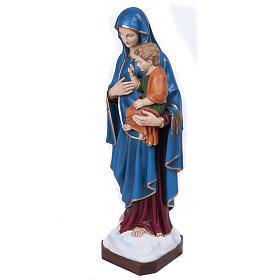 Statue Vierge de la consolation marbre reconstitué 80cm peinte s4